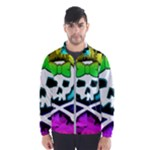 Rainbow Skull Men s Windbreaker