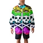 Rainbow Skull Kids  Windbreaker