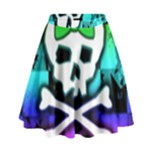 Rainbow Skull High Waist Skirt
