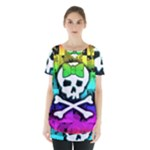 Rainbow Skull Skirt Hem Sports Top