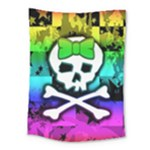 Rainbow Skull Medium Tapestry