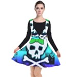 Rainbow Skull Plunge Pinafore Dress