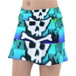 Rainbow Skull Tennis Skirt