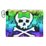 Rainbow Skull Canvas Cosmetic Bag (XL)