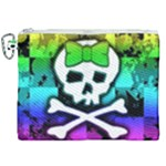 Rainbow Skull Canvas Cosmetic Bag (XXL)