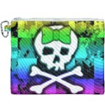 Rainbow Skull Canvas Cosmetic Bag (XXXL)