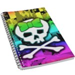 Rainbow Skull 5.5  x 8.5  Notebook