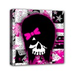 Scene Kid Girl Skull Mini Canvas 6  x 6  (Stretched)