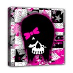 Scene Kid Girl Skull Mini Canvas 8  x 8  (Stretched)
