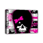 Scene Kid Girl Skull Mini Canvas 7  x 5  (Stretched)