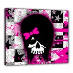 Scene Kid Girl Skull Canvas 24  x 20  (Stretched)