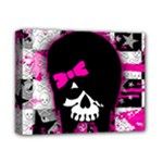Scene Kid Girl Skull Deluxe Canvas 14  x 11  (Stretched)