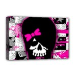 Scene Kid Girl Skull Deluxe Canvas 18  x 12  (Stretched)