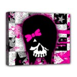 Scene Kid Girl Skull Deluxe Canvas 20  x 16  (Stretched)