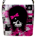 Scene Kid Girl Skull Removable Flap Cover (S)