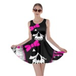Scene Kid Girl Skull Skater Dress