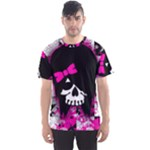 Scene Kid Girl Skull Men s Sports Mesh Tee
