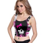 Scene Kid Girl Skull Crop Top
