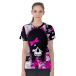 Scene Kid Girl Skull Women s Cotton Tee