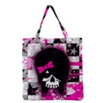 Scene Kid Girl Skull Grocery Tote Bag