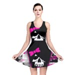 Scene Kid Girl Skull Reversible Skater Dress