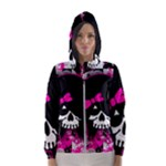 Scene Kid Girl Skull Women s Hooded Windbreaker