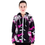 Scene Kid Girl Skull Women s Zipper Hoodie