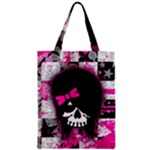Scene Kid Girl Skull Zipper Classic Tote Bag