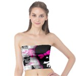 Scene Kid Girl Skull Tube Top