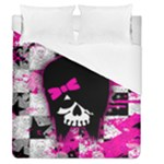 Scene Kid Girl Skull Duvet Cover (Queen Size)