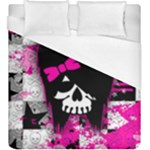 Scene Kid Girl Skull Duvet Cover (King Size)