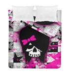 Scene Kid Girl Skull Duvet Cover Double Side (Full/ Double Size)