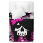 Scene Kid Girl Skull Duvet Cover Double Side (Single Size)