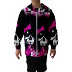 Scene Kid Girl Skull Kids  Hooded Windbreaker
