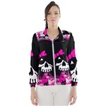 Scene Kid Girl Skull Women s Windbreaker