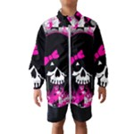 Scene Kid Girl Skull Kids  Windbreaker