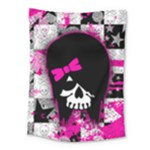 Scene Kid Girl Skull Medium Tapestry