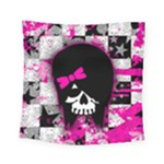 Scene Kid Girl Skull Square Tapestry (Small)