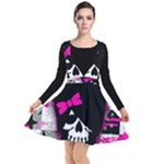 Scene Kid Girl Skull Plunge Pinafore Dress