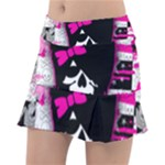 Scene Kid Girl Skull Tennis Skirt