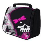 Scene Kid Girl Skull Full Print Travel Pouch (Small)