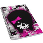 Scene Kid Girl Skull 5.5  x 8.5  Notebook