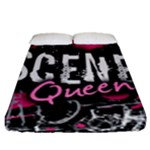Scene Queen Fitted Sheet (Queen Size)
