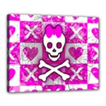 Skull Princess Canvas 20  x 16  (Stretched)