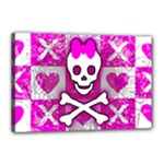 Skull Princess Canvas 18  x 12  (Stretched)