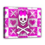 Skull Princess Deluxe Canvas 20  x 16  (Stretched)