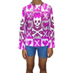 Skull Princess Kids  Long Sleeve Swimwear