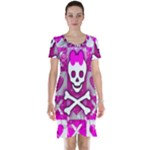 Skull Princess Short Sleeve Nightdress