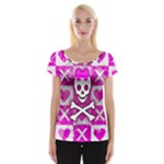 Skull Princess Cap Sleeve Top