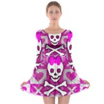 Skull Princess Long Sleeve Skater Dress